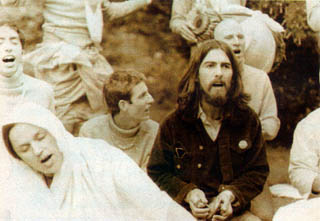 George Harrison of the Beatles Chanting Hare Krishna Mantra With Devotees From the London Temple